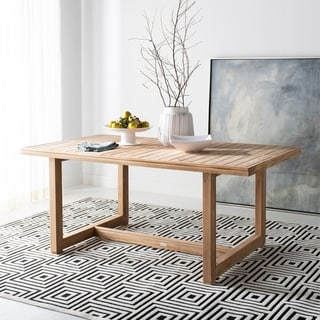 Safavieh Couture Montford Natural Teak Commercial Grade Dining Table - 70.8 in w x 39.3 in d x 29.9 in h