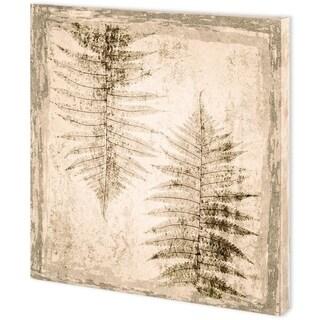 Mercana Stone Leaf II (44 x 44) Made to Order Canvas Art