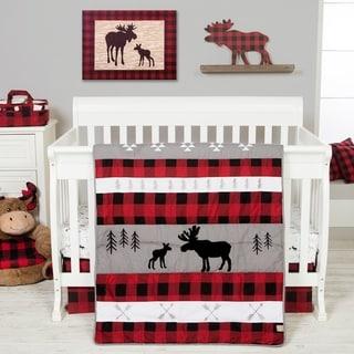 Lumberjack Moose 3 Piece Crib Bedding Set