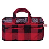 Red and Black Buffalo Check Storage Caddy