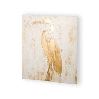 Mercana Gilded Heron II (30 x 30) Made to Order Canvas Art