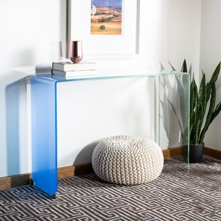 Safavieh Crysta Ombre Glass Console Table - Clear / Blue