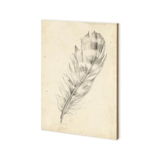 Link to Mercana Feather Sketch II (30 x 43) Made to Order Canvas Art Similar Items in Specialty Material Art