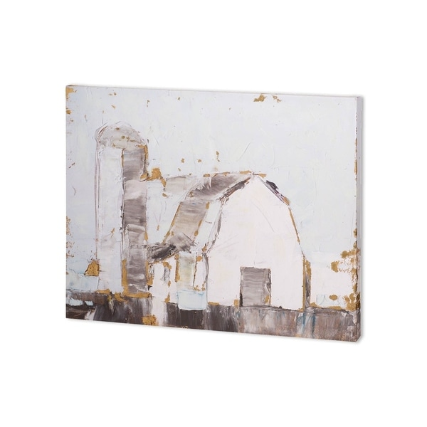 Mercana Barn & Silo II (40 x 30 ) Made to Order Canvas Art