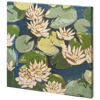 Mercana Water Flowers II (44 x 44) Made to Order Canvas Art