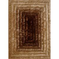 Brown Contemporary 5x7 Rug - 5' x 7'