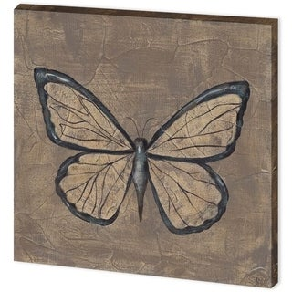 Mercana Textured Butterfly I (44 x 44) Made to Order Canvas Art
