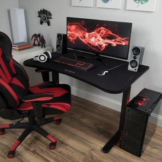 RESPAWN Gaming Table with Gaming Mouse Pad, Gaming Computer Desk