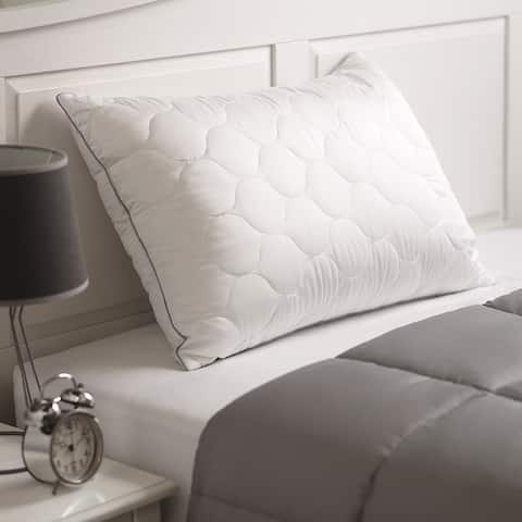 Cozy Clouds Tencel Quilted Down Alternative Pillow - White