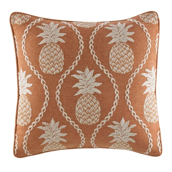 a123f9e9ae Shop Tommy Bahama Batik Pineapple Burnt Coral Throw Pillow - Free ...