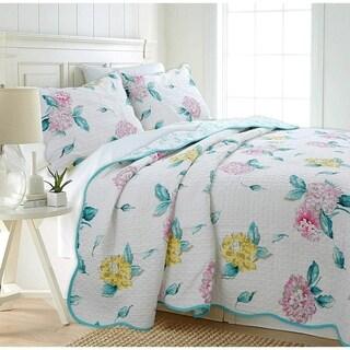 Cozy Line Lowe 3- piece Floral Reversible Cotton Quilt Set