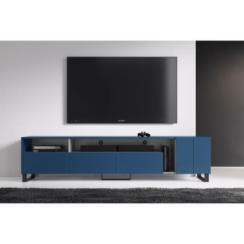 B-Modern Calligrapher Modern Matte Blue/Grey Oak TV Stand