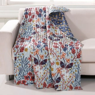 Link to Barefoot Bungalow Perry Reversible Quilted Throw Blanket Similar Items in Blankets & Throws