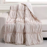 Greenland Home Fashions Farmhouse Chic Red Reversible Quilted Throw
