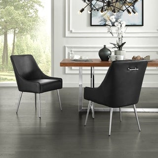 Link to Camputo Leather/Velvet Dining Chair Stainless Steel Legs (Set of 2) Similar Items in Dining Room & Bar Furniture