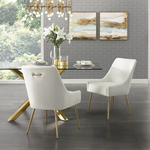 Prime Camputo Leather Velvet Dining Chair Stainless Steel Legs Off White Leather Gold Arm Chair Set Of 2 As Is Item Overstock Com Shopping The Machost Co Dining Chair Design Ideas Machostcouk