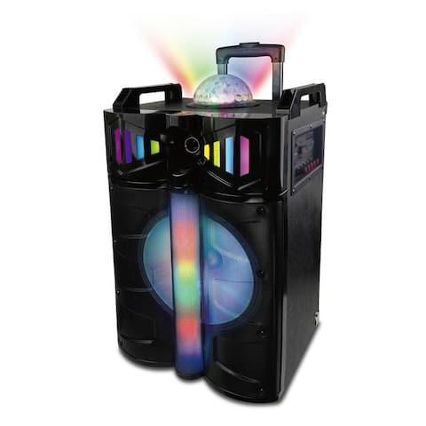 Naxa Wireless Portable Karaoke Speaker with Disco Dome Light