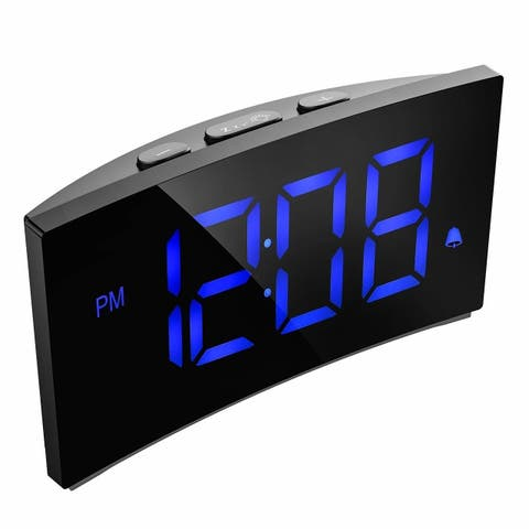 Digital Alarm 5 Inch Dimmable LED Screen, Kids Clock with Snooze Function