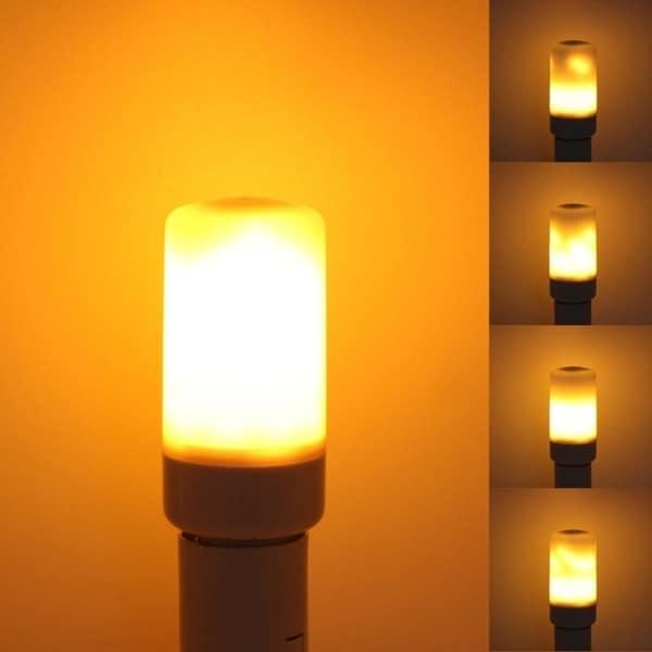 E27 7W LED Burning Light Flicker Flame Lamp Bulb Three Modes Flame Emulation Effect Decorative. Opens flyout.