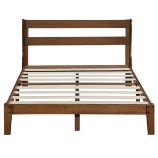 Sleeplanner 12 Inch Wood Platform Bed with Headboard