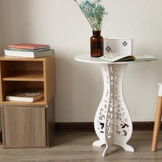 Copper Grove Prrenjas Modern Round White Side Table