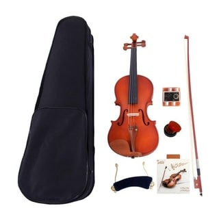 Glarry 4/4 Acoustic Matt Violin-- Case& Bow &Rosin& Strings& Shoulder Rest& Tuner