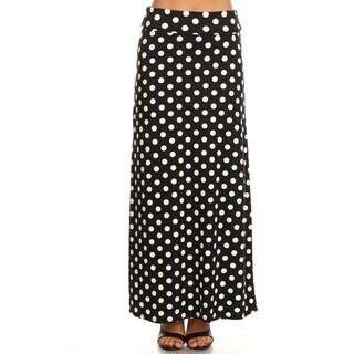 Women's Casual Polka Dot Pattern Lightweight Maxi Skirt