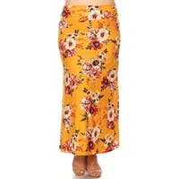 Women's Casual Lightweight Basic Pattern Maxi Skirt