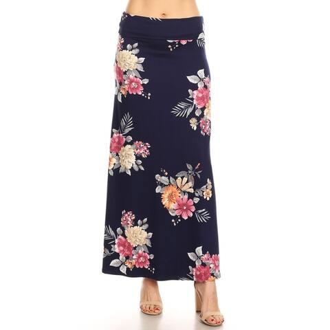 Women's Casual Lightweight Basic Pattern Long Maxi Skirt