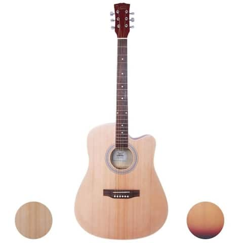 Glarry GT501/GT502 40''/41'' inch Folk Guitar--Bag & Board & Wrench Tool