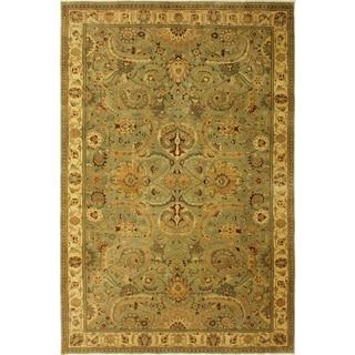 Istanbul Jaime Lt. Green/Ivory Wool Rug (10'0 x 13'7) - 10 ft. 0 in. x 13 ft. 7 in.