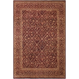 Antique Vegtable Dye  Ingrid Aubergine/Aubergine Wool Rug (9'1 x 12'3) - 9 ft. 1 in. x 12 ft. 3 in.