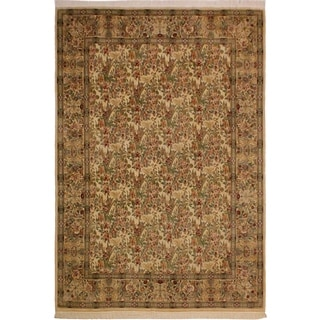 Pak-Persian Jung Ivory/Ivory Wool Rug (9'1 x 12'9) - 9 ft. 1 in. x 12 ft. 9 in.