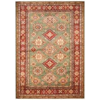 Handmade Super Kazak Wool Rug (Afghanistan) - 5' x 8'1