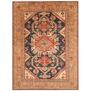 Handmade Super Kazak Wool Rug (Afghanistan) - 4'9 x 6'6