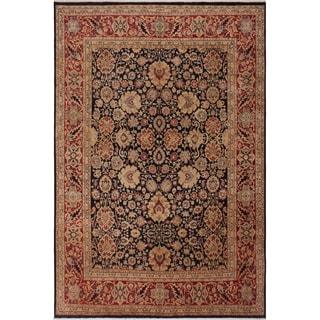 Antique Vegtable Dye Anmol Agra Mabelle Blue/Red Wool Rug (8'1 x 9'11) - 8 ft. 1 in. x 9 ft. 11 in.