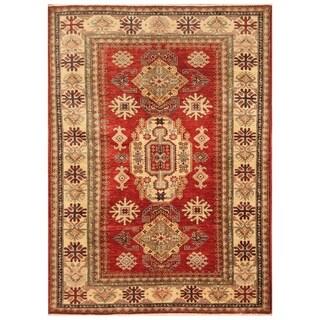 Handmade Super Kazak Wool Rug (Afghanistan) - 4'9 x 6'7