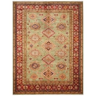 Handmade Super Kazak Wool Rug (Afghanistan) - 5'10 x 7'8