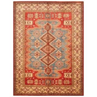 Handmade Super Kazak Wool Rug (Afghanistan) - 5' x 6'10