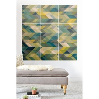 Link to Deny Designs Blue Chevron Abstract Wood Wall Mural- 9 Squares Similar Items in Wood Wall Art