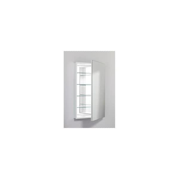 Robern Pl Series 1 Door Flat Medicine Cabinet PLM2440WRE White