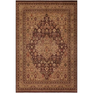 Antique Vegtable Dye Tabriz Kristin Drk. Red/Tan Wool Rug (8'2 x 10'5) - 8 ft. 2 in. x 10 ft. 5 in.
