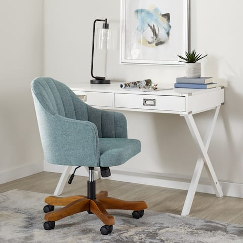Carson Carrington Nelson Seafoam Modern Office Chair