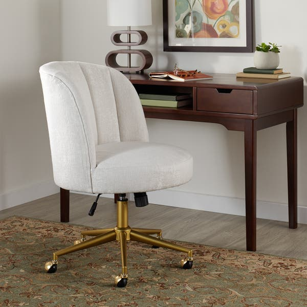 Marvelous Shop Silver Orchid Murray Beige Gold Base Modern Office Ibusinesslaw Wood Chair Design Ideas Ibusinesslaworg