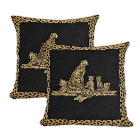 Sherry Kline Cheetah Dynasty 20-inch Decorative Pillows (Set of 2)