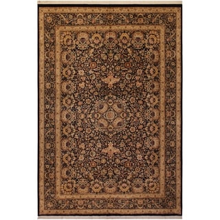 Pak-Persian Shayne Blue/Tan Wool Rug (10'0 x 14'3) - 10 ft. 0 in. x 14 ft. 3 in.