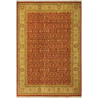 Pak-Persian Adriana Red/Ivory Wool Rug (10'0 x 14'0) - 10 ft. 0 in. x 14 ft. 0 in.