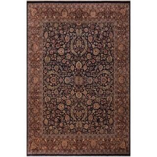 Antique Vegtable Dye Dabir Willie Blue/Brown Wool Rug (8'1 x 9'10) - 8 ft. 1 in. x 9 ft. 10 in.
