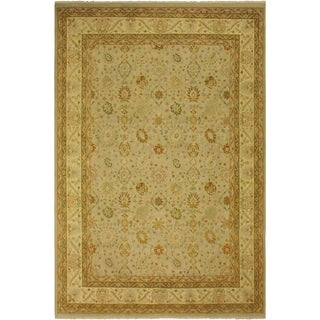 Antique Vegtable Dye  Yolando Lt. Gray/Lt. Gold Wool Rug (9'1 x 12'2) - 9 ft. 1 in. x 12 ft. 2 in.