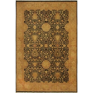 Antique Vegtable Dye Sultanabad Jewell Blue/Tan Wool Rug (9'1 x 12'5) - 9 ft. 1 in. x 12 ft. 5 in.